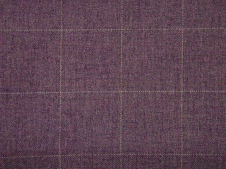 Check Heather Mauve Curtain Fabric - The Millshop Online