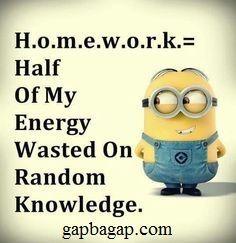 Funny Minions vs. Homeworks