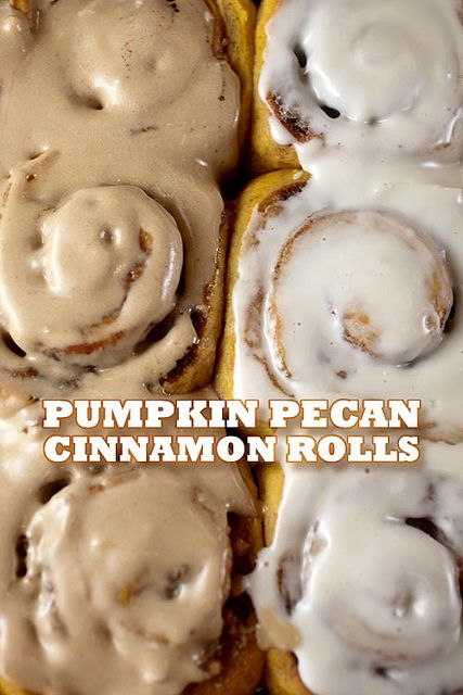 Pumpkin Pecan Cinnamon Rolls by Bakerella, via Flickr