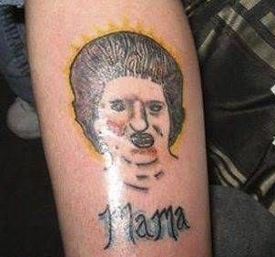Mama tattoo bad tattoo bad portrait tattoo