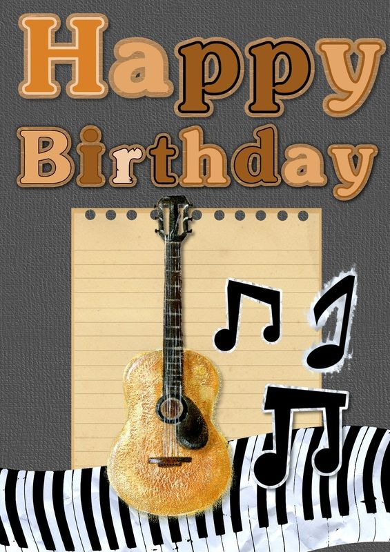 Happy Birthday Guitar Clipart With Images Happy Birthday
