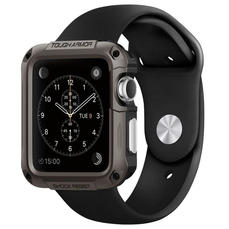 Whether you're at the gym or the office, the Tough Armor® case for the Apple Watch will guard against bumps and scratches. It's constructed with high quality polycarbonate and TPU for a bolstered desi