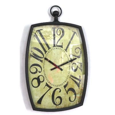 Wilco Home Timberland Metal Bulova Wall Clock