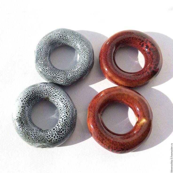 Купить Керамические бусины 27 мм бублик кольцо для украшений - ceramic porcelain beads