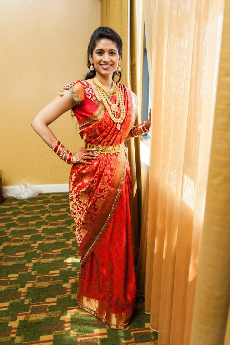 south indian bride style