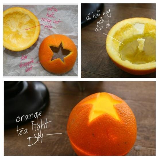 Orangen Duftkerze selber machen