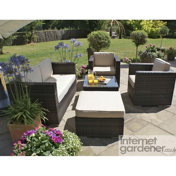 Maze Rattan 5 Piece Rattan Garden Sofa Set | Internet Gardener