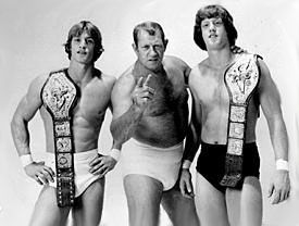 Kevin, Kerry, Mike, David, Chris and Fritz (The Von Erich Family)