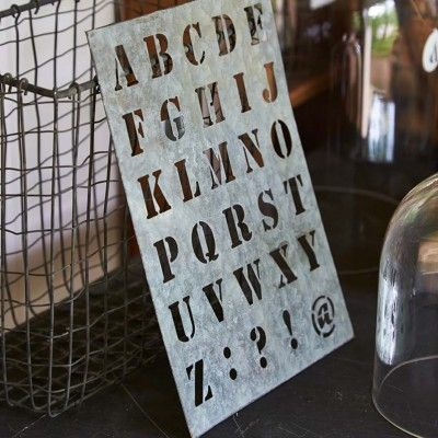 Stencils...alphabet and numbers.
