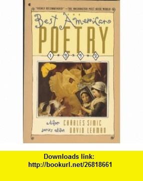 63 best charles simic poet images on pinterest poet poetry and the best american poetry 1992 9780020698456 david lehman charles simic isbn fandeluxe Ebook collections