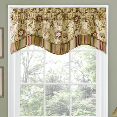 """Traditions by Waverly Navarra Floral 52"""" Curtain Valance & Reviews 