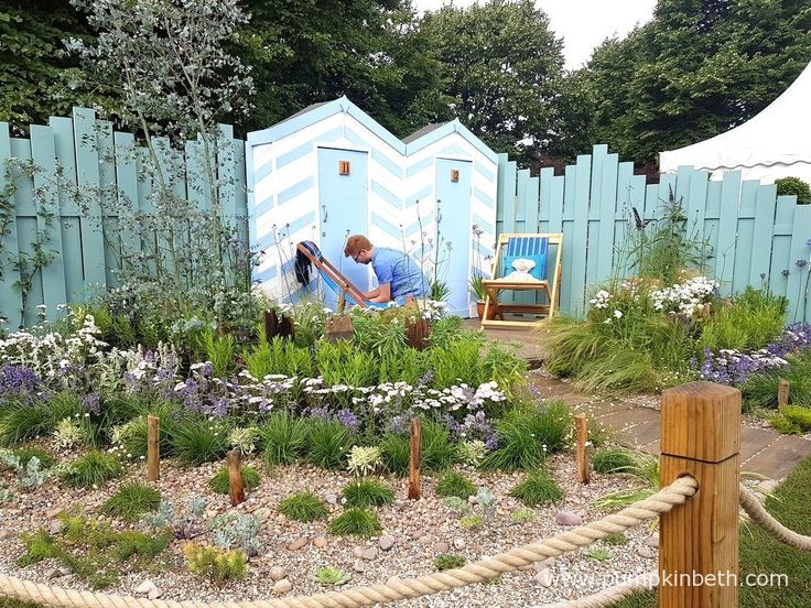 Southend Council: By the Sea was designed by James Callicott, and built by Southend Borough Council, for the RHS Hampton Court Palace Flower Show 2017. The RHS judges presented this Show Garden with a Silver-Gilt Medal.
