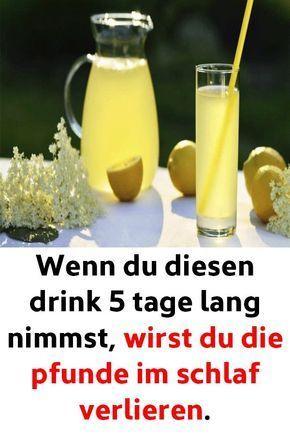 Wenn du diesen Drink 5 Tage lang nimmst, wirst du die Pfunde im Schlaf verlieren – Janine Poohbär