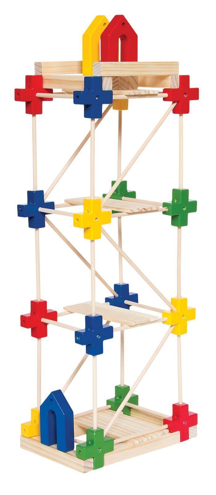 Guidecraft Texo 65 teilig Holzbaukasten in Spielzeug, Baukästen & Konstruktion, Holzbaukästen | eBay!