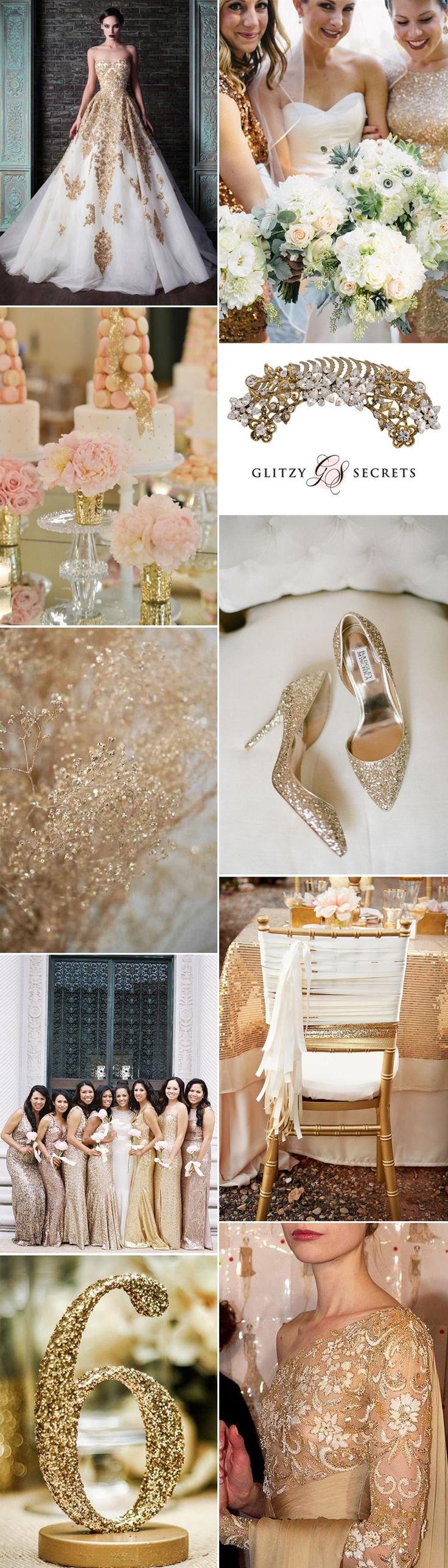 Explore Glitzy Secrets' decadent gold wedding ideas on GS Inspiration today