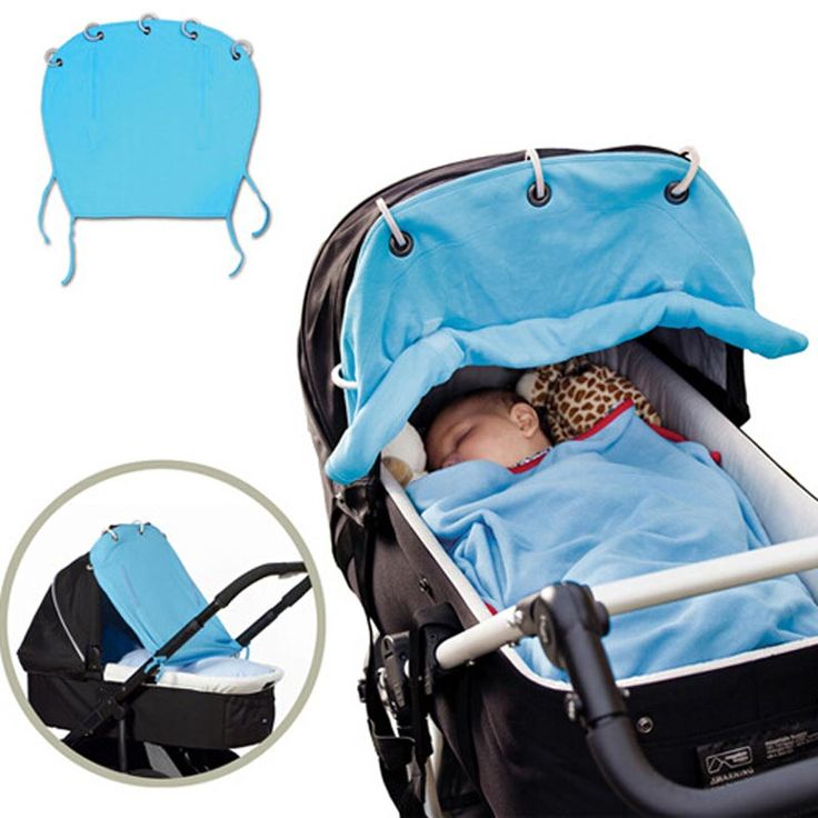 Cotton Baby Stroller Sun Shade Rolling Curtain Ventilated Baby Prams Sunshade Cloth Strollers Accessories