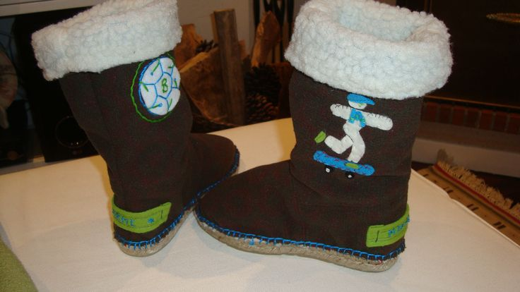 Warm and personalized child boots