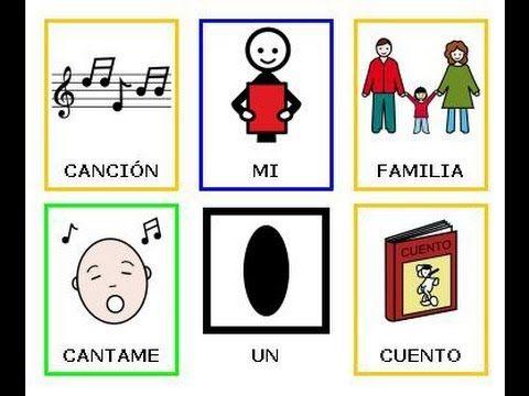 Mi Familia , canción infantil con pictogramas - YouTube