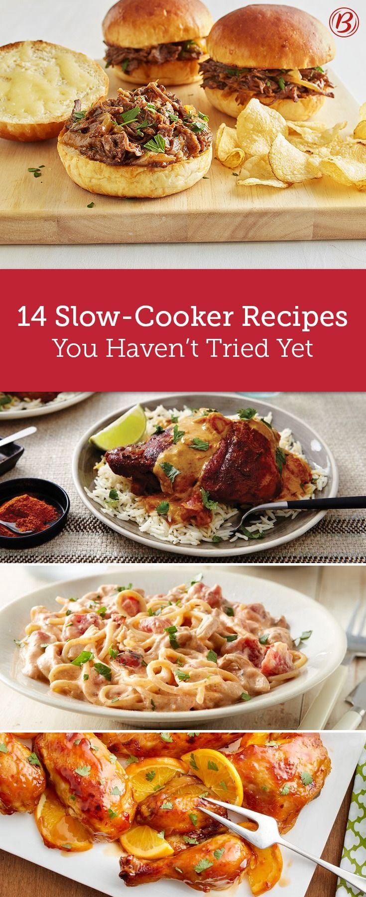 So long, dinner rut! These slow-cooker recipes bring fresh flavors to the table. From a cheesy spaghetti that is the definition of comfort food to a four-ingredient rotisserie-style chicken that's cooked to perfect with literally no effort, you've never tried dinners in your slow cooker like this before.