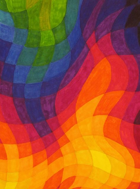 campfire, warm and cool, color theory