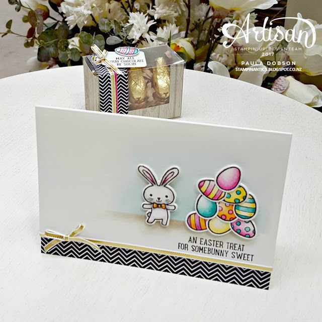 Paula Dobson - Stampinantics.  An Easter treat for some bunny sweet featuring the Basket Bunch stamp set from Stampin' Up!. #pauladobson #stampinantics #artisandesignteam #basketbunchbundle #stampinupeaster