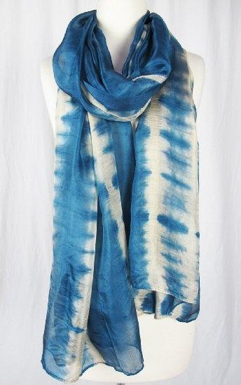 Cashmere Silk Scarf - Mystic Blue Rose by VIDA VIDA dAnYI