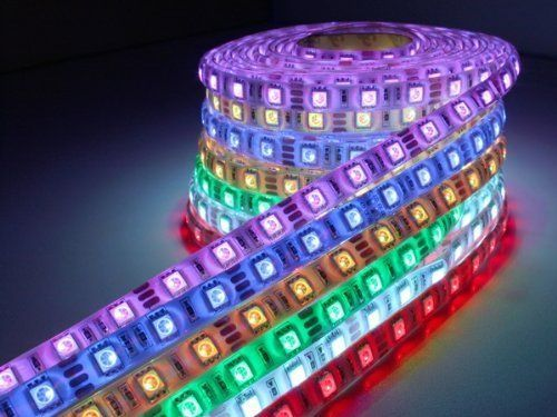 Smd3528 164ft 5m 300led Waterproof RGB Color Led Strip Flexible Srips Light Without 12v Power Supply and Remote Controller Life Span 50000 Hours  Ideal for Gardens Homes Kitchen Under Cabinet Aquariums Cars Bar DIY Party Decoration Lighting *** You can find more details by visiting the image link.