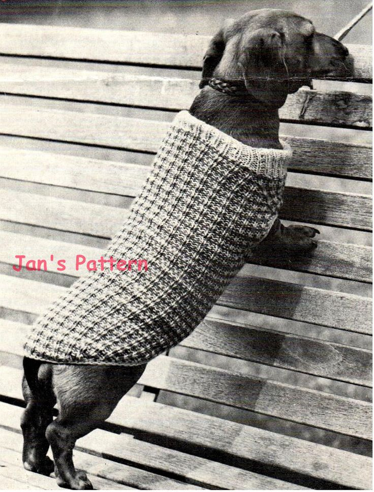 Awesome Dachshund Jumper Knitting Pattern Image Collection Sewing