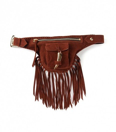 @Who What Wear - Giuseppe Zanotti Fringed Bum Bag ($1495)  ​A fringed fanny pack — genius.