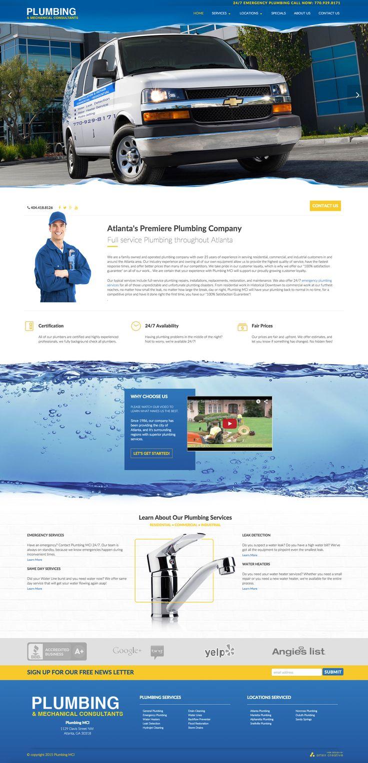 Design Concept for Plumbing MCI, an Atlanta based plumbing company.