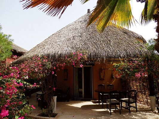 The modestly welcoming rural style of the Hotel Espadon roof thatching