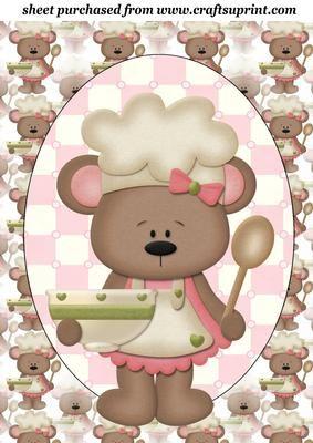 Pink Betsy baker topper 1 on Craftsuprint designed by Sharon Poore - Pink Betsy baker topper - Now available for download!