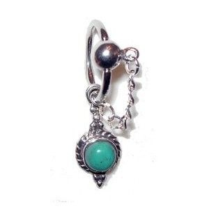 Genuine Turquoise Belly Button Ring Captive Style
