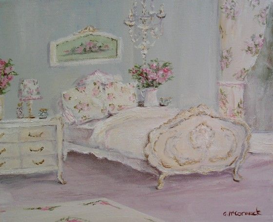 Original Whimsical Painting - Dream Bedroom - Postage is included Australia Wide
