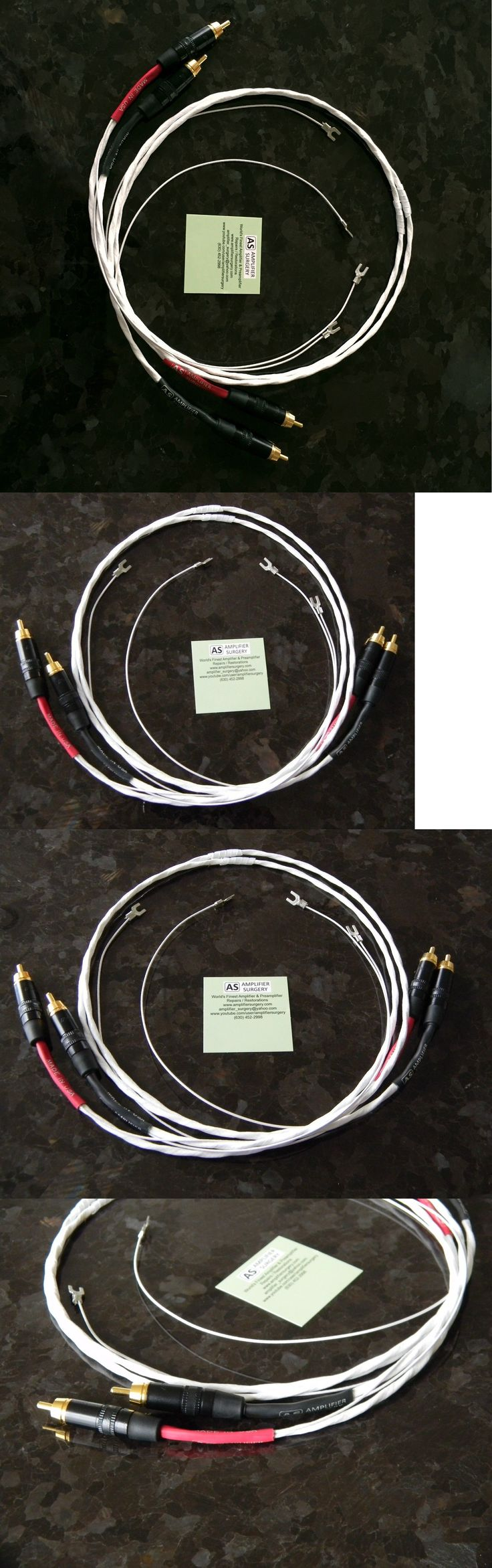 Audio Cables and Interconnects: 2Ft Silver Plated Phono Rca Interconnect Turntable Audio Cable W Ground Usa Made BUY IT NOW ONLY: $55.0