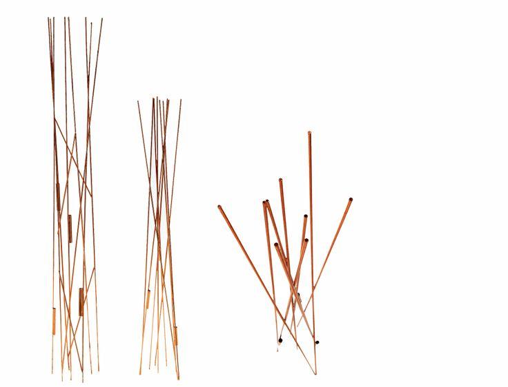 TWIG - Vasi portafiori in tondino di rame; Design: Voon Wong Benson Saw