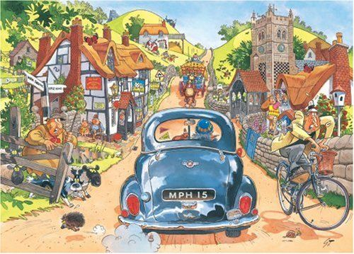 Ravensburger Wasgij Jigsaw Puzzles and Solutions | The very first Wasgij - Original - Sunday Drivers.