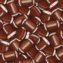 Tela de fútbol americano Colección: Sports de Timeless Treasures Diseño: Gail Cadden importado de EE. UU.  tela de algodón con balones marrones de fútbol americano tejido de máxima...