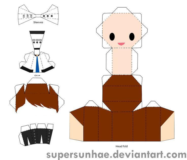 baekhyun papercraft template by supersunhae