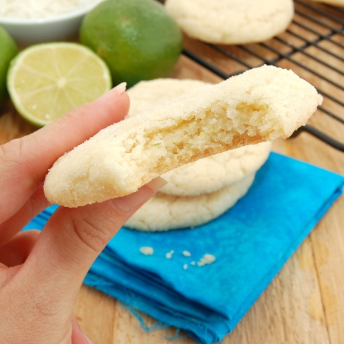 Chewy Coconut-Lime Sugar Cookies, perfect for Cinco de Mayo