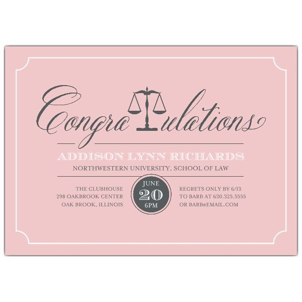 we offer custom invitations and stationery from top designers fast service and a satisfaction guarantee find this pin and more on law school graduation - Law School Graduation Invitations