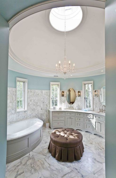 What A Beautiful Luxurious Bathroom Love The Colors And