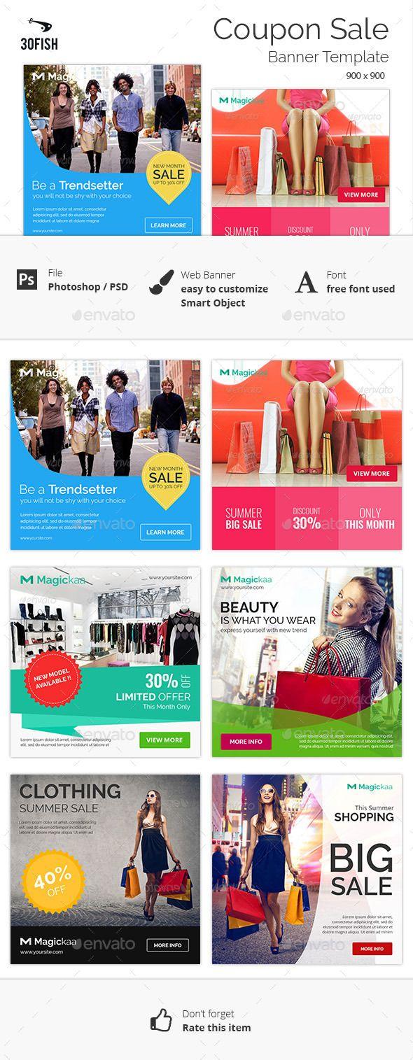 Coupon Sale Banner Template #design Download: http://graphicriver.net/item/coupon-sale-banner/12182057?ref=ksioks