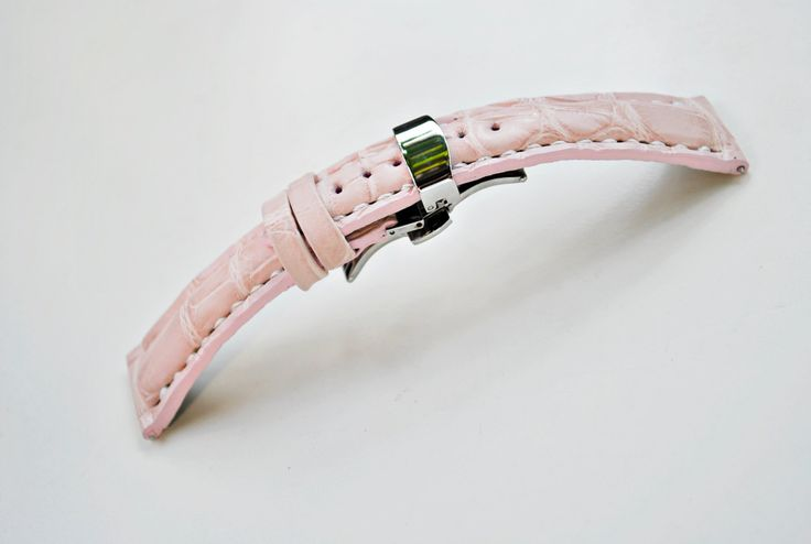 Frederique Constant Custom Handmade Light Pink Alligator Leather Watch Strap- for Deployment Clasp - More Leather Types & Colors On Order by ChristianStraps on Etsy
