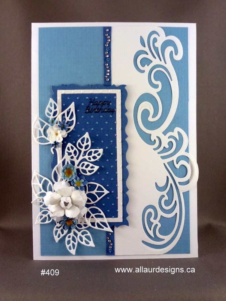 Fantasy in blue - Sue Wilson craft die.