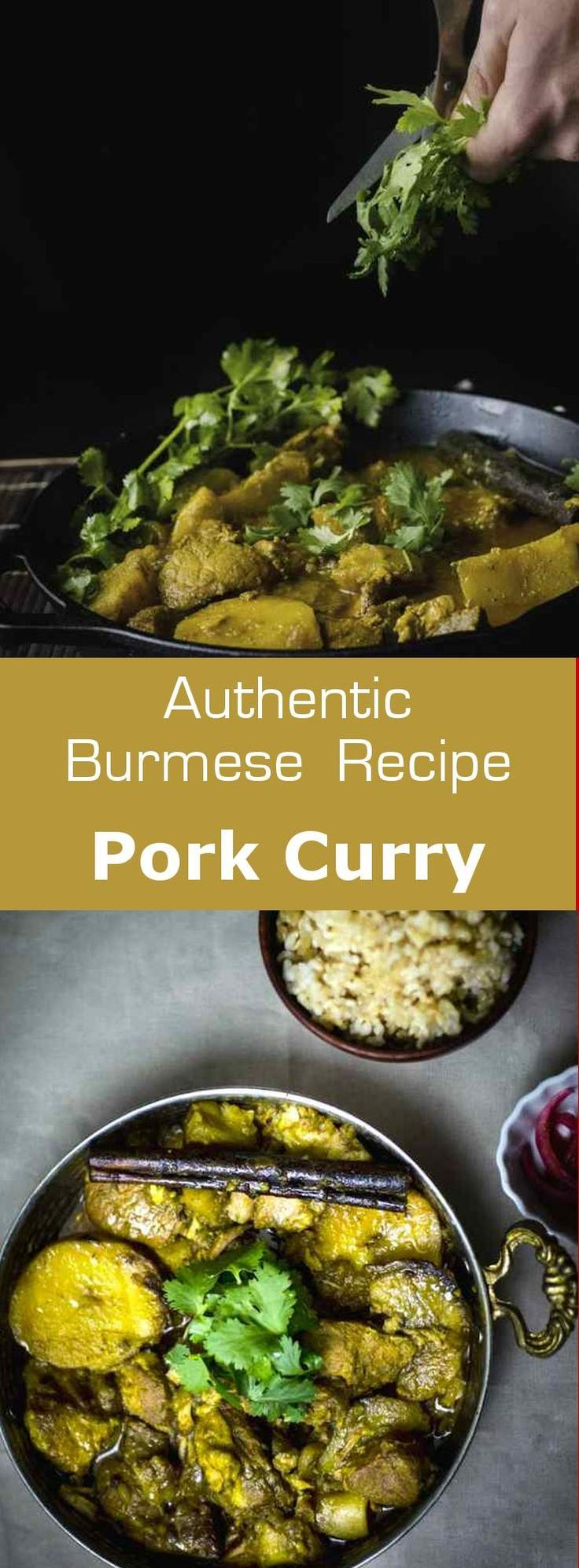Pork curry is a luxurious Burmese dish that is typically served with rice and sour salads, in special occasions like weddings and novitiation ceremonies. #christmas #burma #myanmar #196flavors