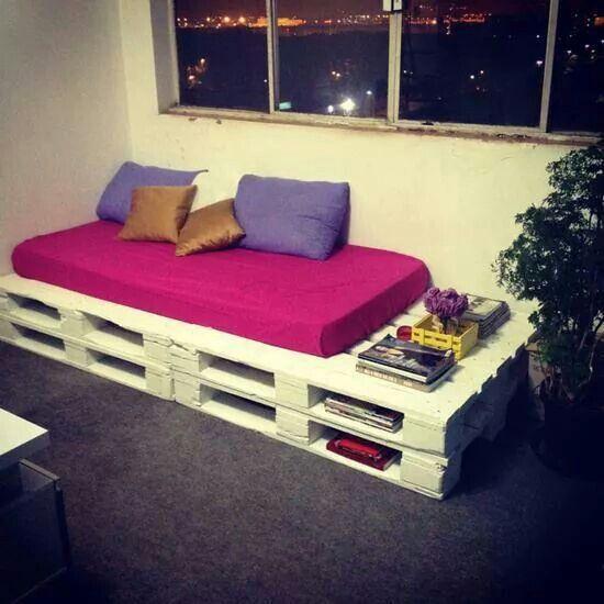Mueble hecho d paletas muebles e ideas practicas para for Muebles hechos con paletas de madera
