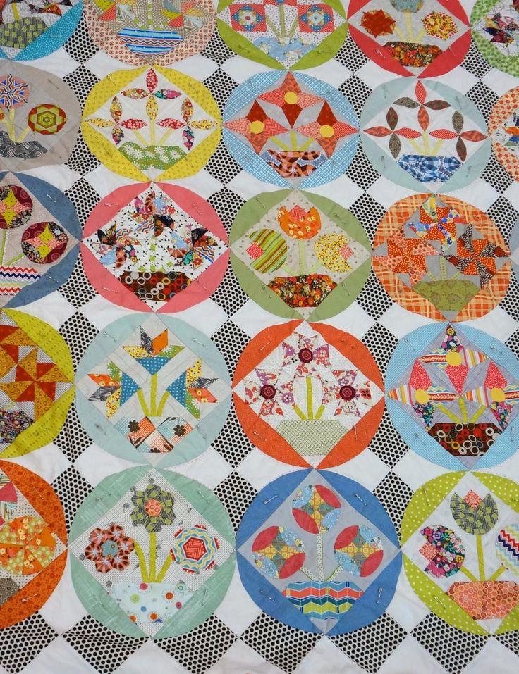 46 best Bring me flowers BOM images on Pinterest   Patchwork ... : flower quilt patterns beginners - Adamdwight.com