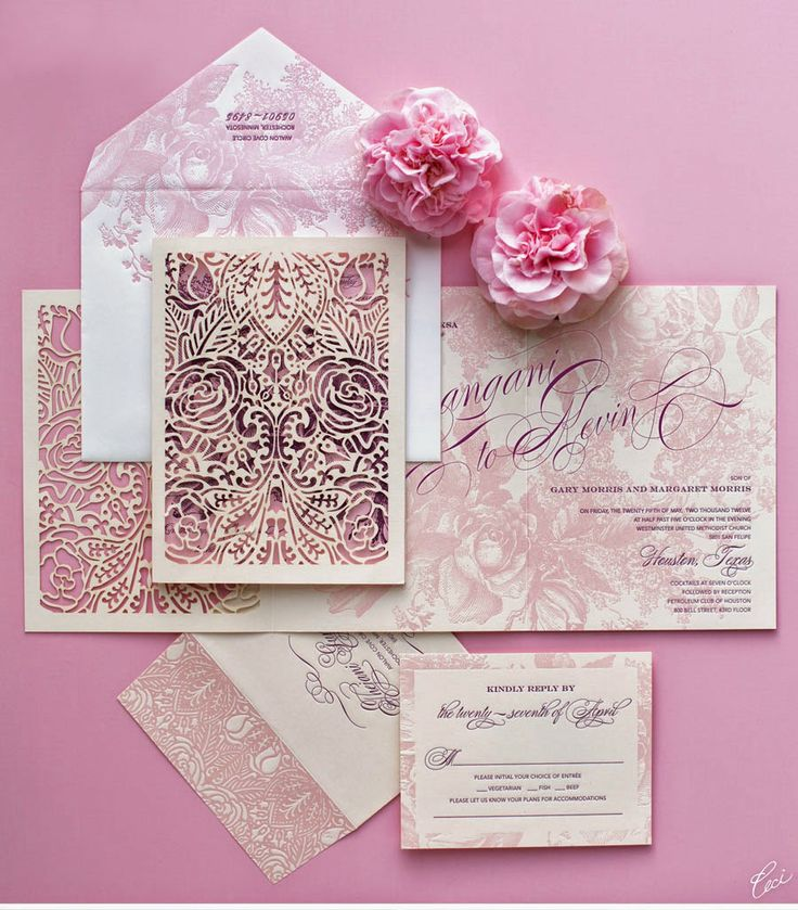 62 best wedding cards images on pinterest bridal photography have a pink a liscious wedding wedding invitation read more http stopboris Images