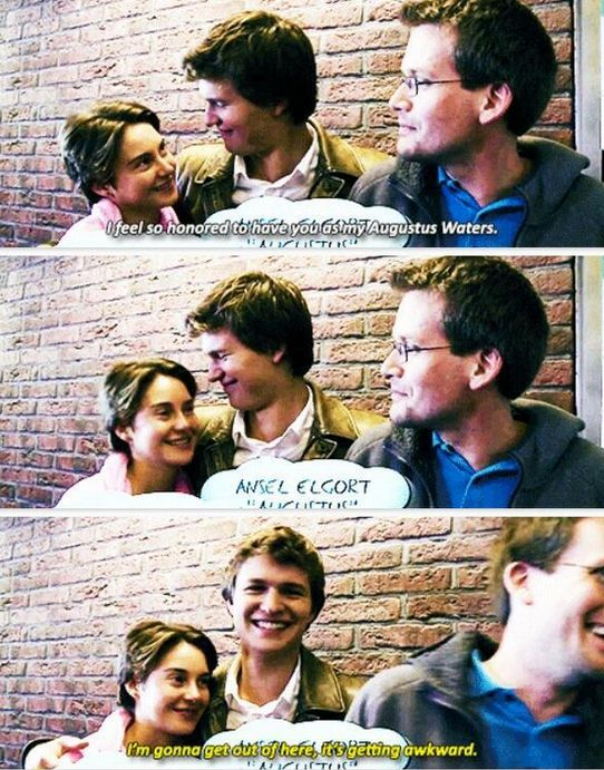 Ansel Elgort and Shailene Woodley The Fault in Our Stars Hazel Grace and Augustus Waters